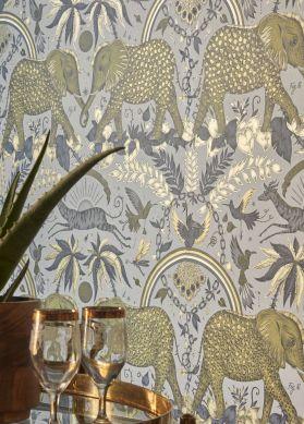 Papier peint Zambezi jaune pâle Raumansicht