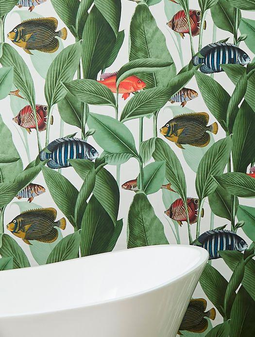 Papel pintado animales Papel pintado Acuario blanco Ver habitación