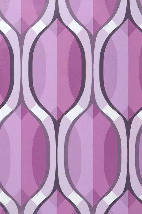 Wallpaper Belafanta Matt Retro elements Violet tones Dark violet Light violet White
