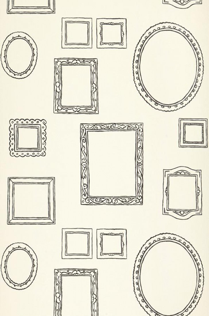 tapete tisiphone cremeweiss schwarzgrau tapeten der 70er. Black Bedroom Furniture Sets. Home Design Ideas