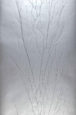 Wallpaper Crush Tree 04 silver grey Roll Width