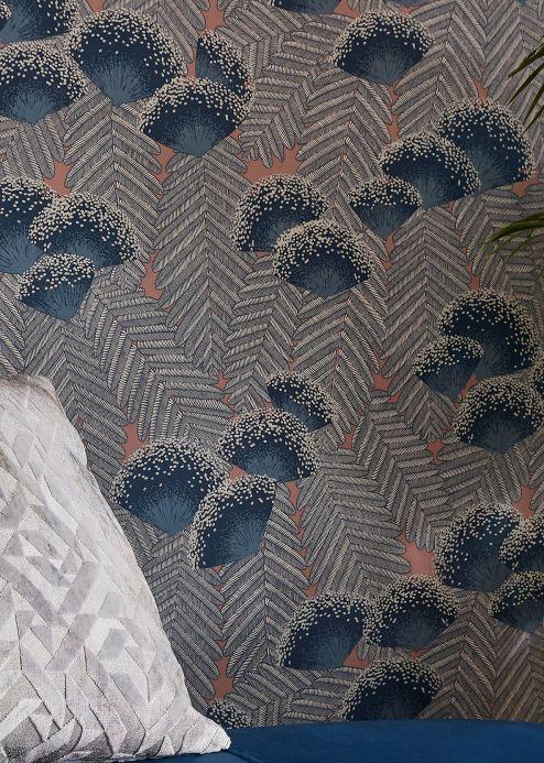 Papel de parede Papel de parede Tambika azul esverdeado Ver quarto
