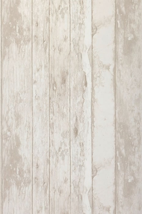 Wallpaper Wood Effect Matt Old wooden boards Pale grey beige Brown white Grey white