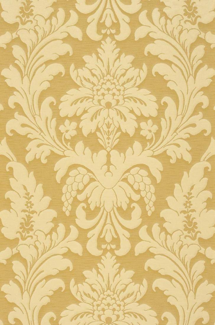 Marunda jaune sable ivoire clair papier peint baroque motifs du papier - Papier peint annee 70 ...