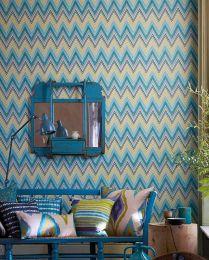 Papier peint Vasuki bleu turquoise clair
