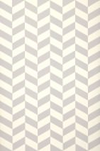 Wallpaper Angle Matt Geometrical elements Cream Platinum grey
