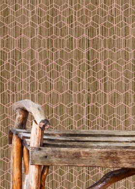 Wallpaper Gedes beige brown Room View