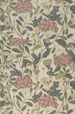 Papel pintado Flowery crema Bahnbreite