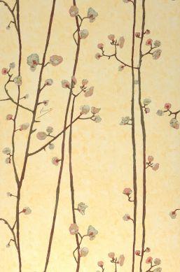 Papier peint VanGogh Branches jaune pâle Largeur de lé