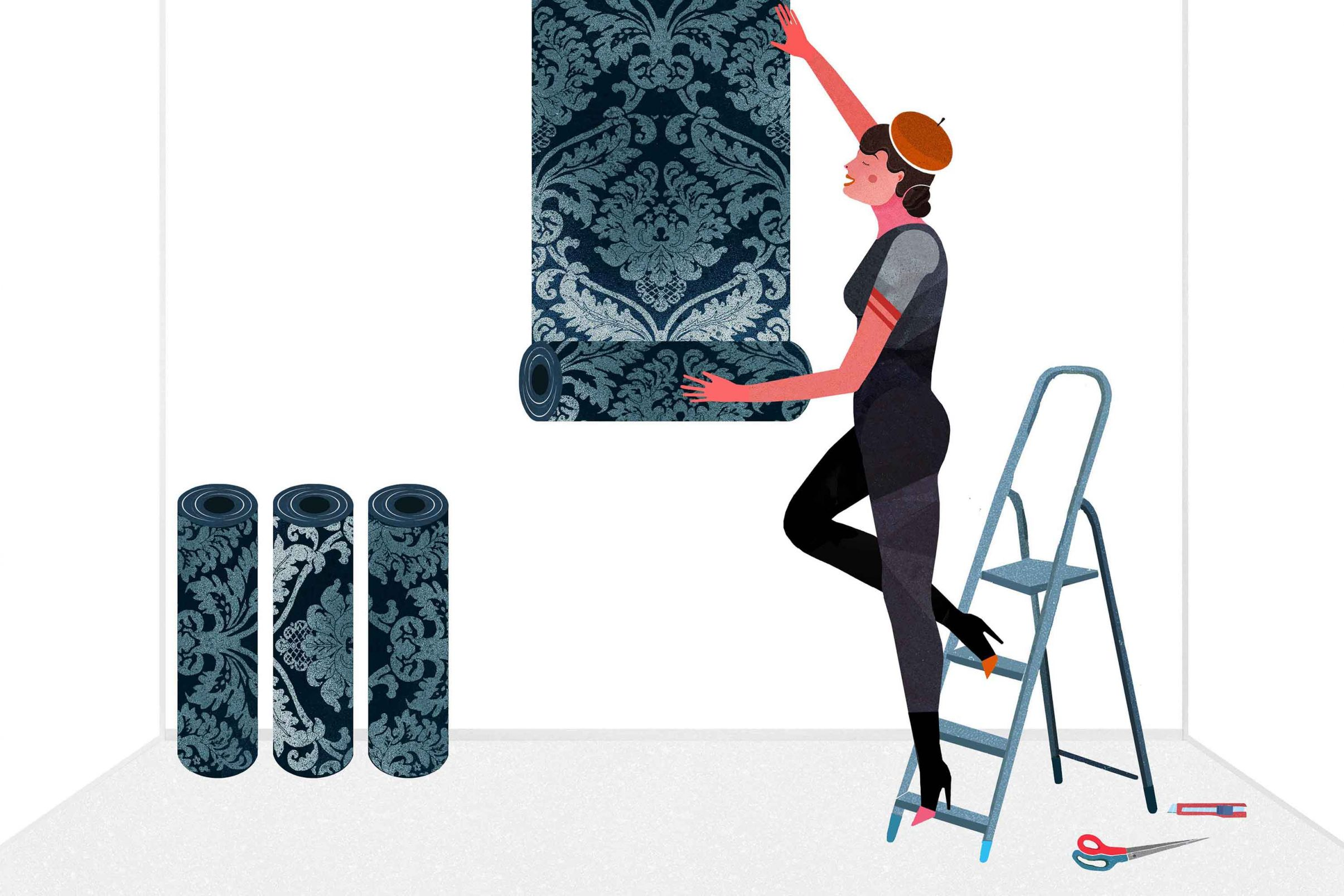 How-to-cut-wallpaper-correctly-Determine-the-start-of-the-pattern