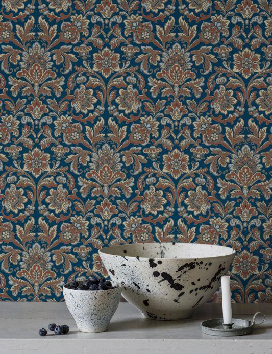 Classic wallpaper Wallpaper Jelida copper brown Room View