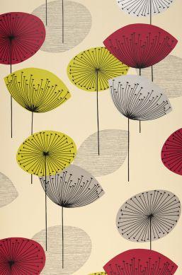 Wallpaper Dana claret coloured Roll Width