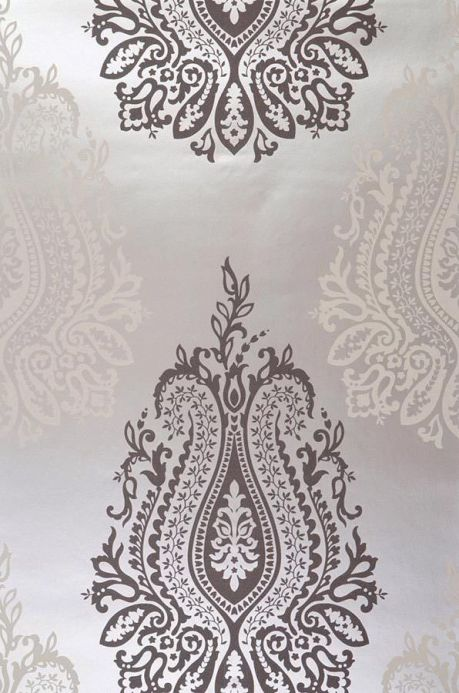 Archiv Wallpaper Carbacan grey brown Roll Width