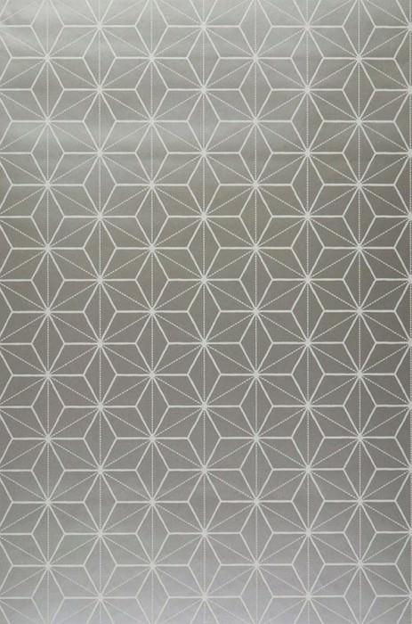 Papel de parede Hemsut Padrão mate Superficie base brilhante Elementos geométricos Prata Branco creme