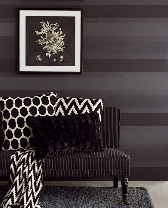 Archiv Papel de parede Velda cinza negrusco Ver quarto