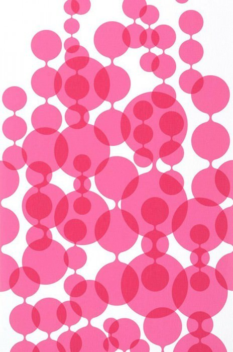 Wallpaper Feline Matt Balls White Pink