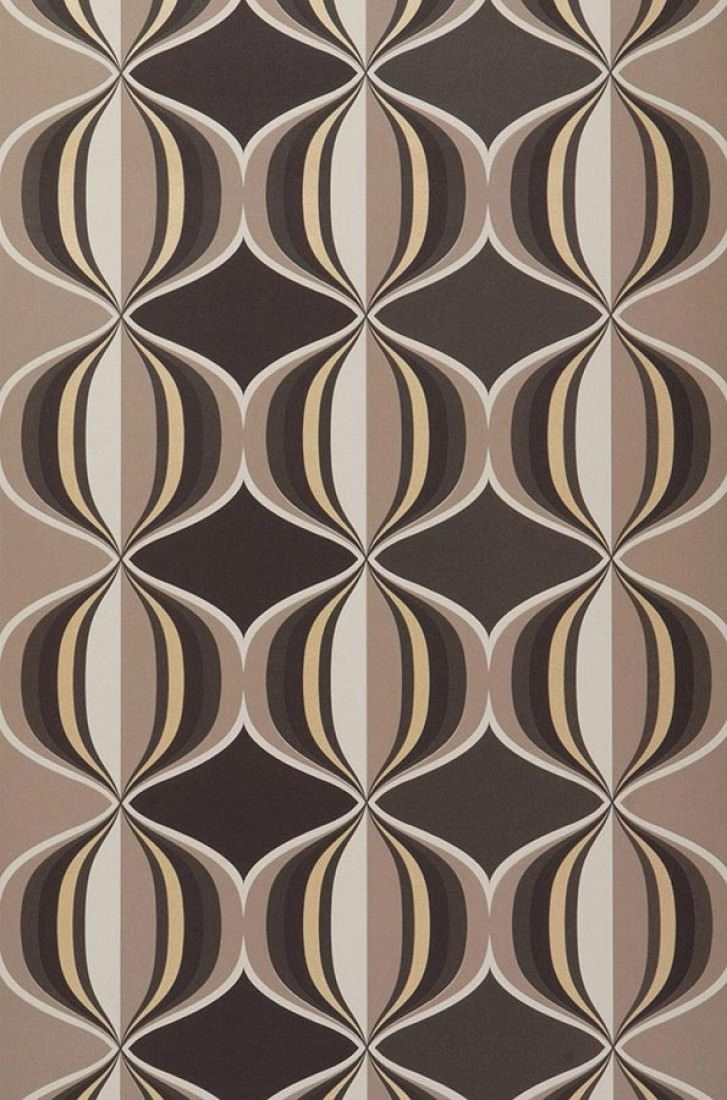 Wallpaper Delos Pale Brown Dark Brown Light Beige