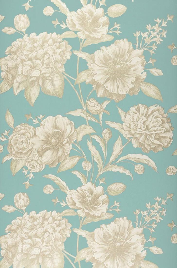 Papel De Parede Syros Turquesa Pastel Creme Brilhante Ouro  ~ Papel De Parede Azul Tiffany Quarto