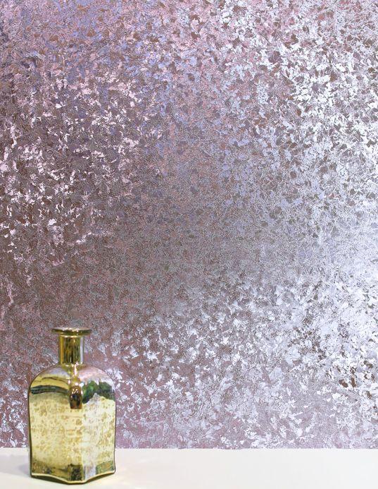 Papel pintado metálico Papel pintado Lucinda violeta claro Ver habitación