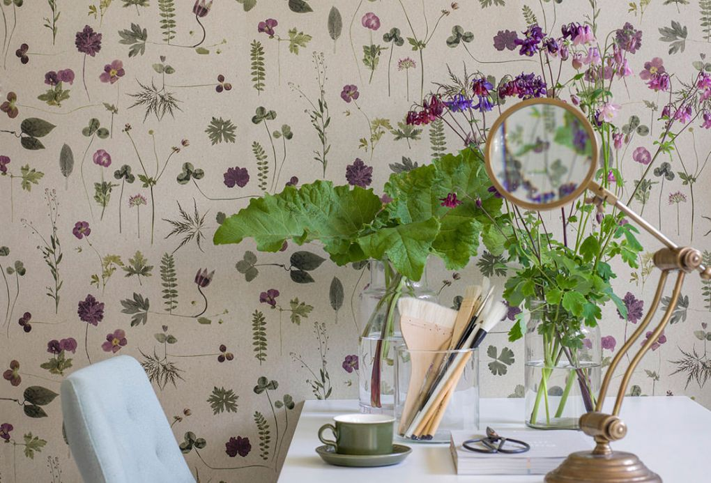 Green Wallpaper Wallpaper Tuina violet Room View