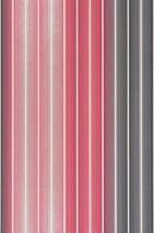 Wallpaper Lino Matt Stripes Pale red Cream Black grey