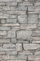 Papier peint Hadlar Mat Imitation pierre Gris beige Gris Brun gris