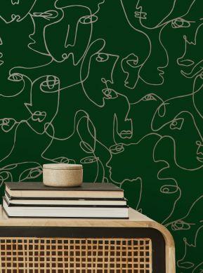 Wallpaper Zaralin green Raumansicht