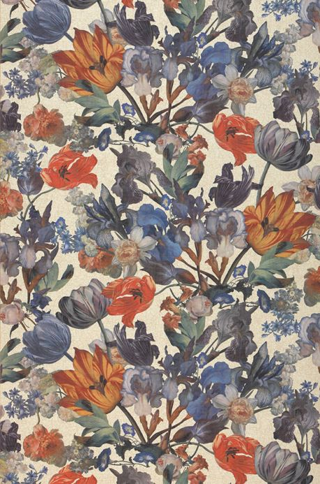 Floral Wallpaper Wallpaper Joslina red Roll Width