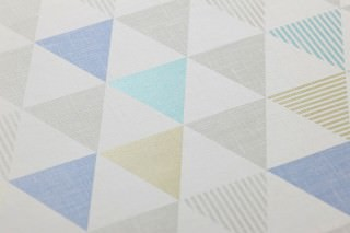 Wallpaper Zenem Matt Triangles Grey white Blue Green yellow shimmer Turquoise shimmer