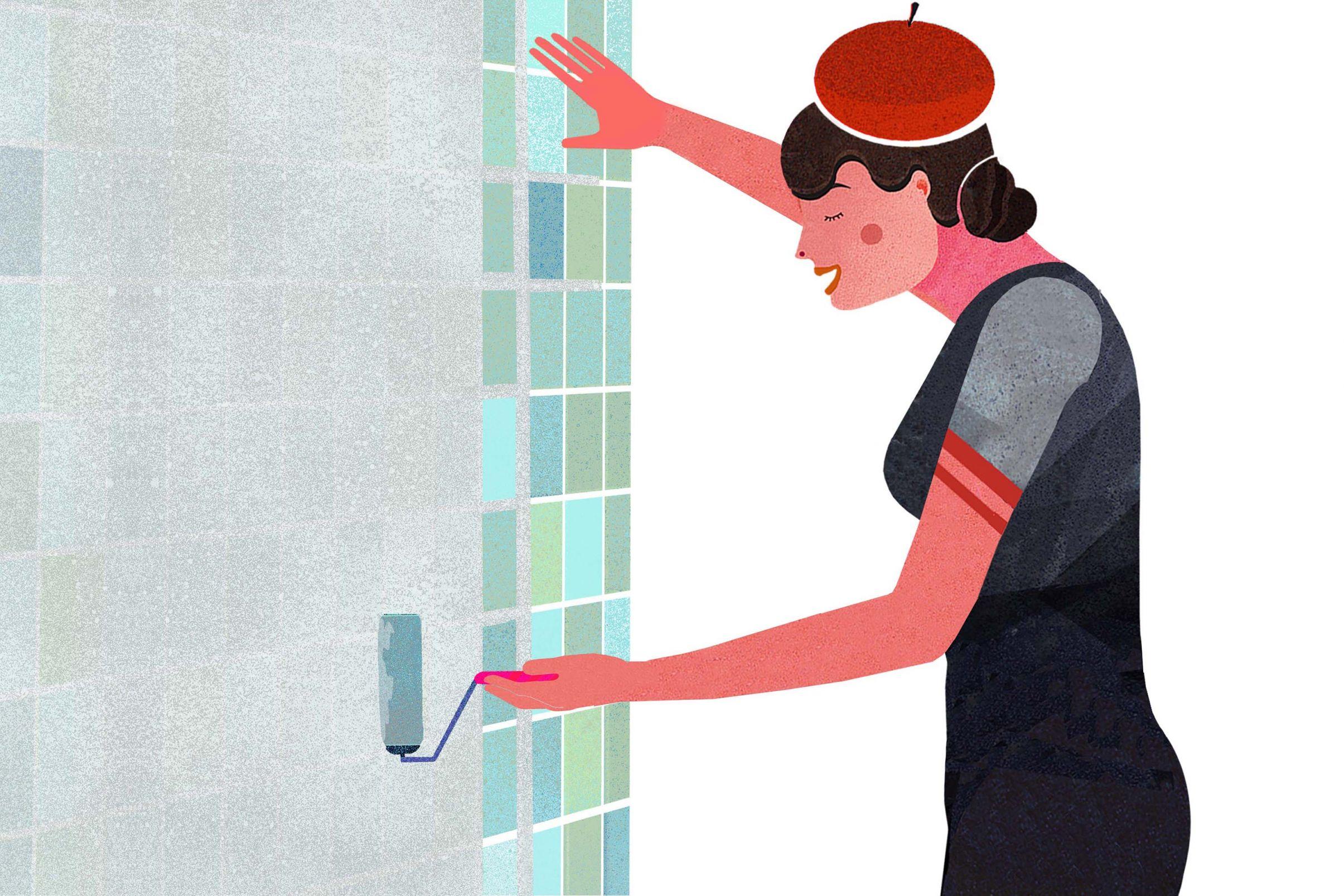 Wie-tapeziere-ich-im-Badezimmer-Tiefengrund-zweimal-auftragen-anschliessend-Makulaturtapete-kleben