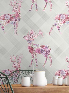 Papel de parede Violaine rosa Ver quarto