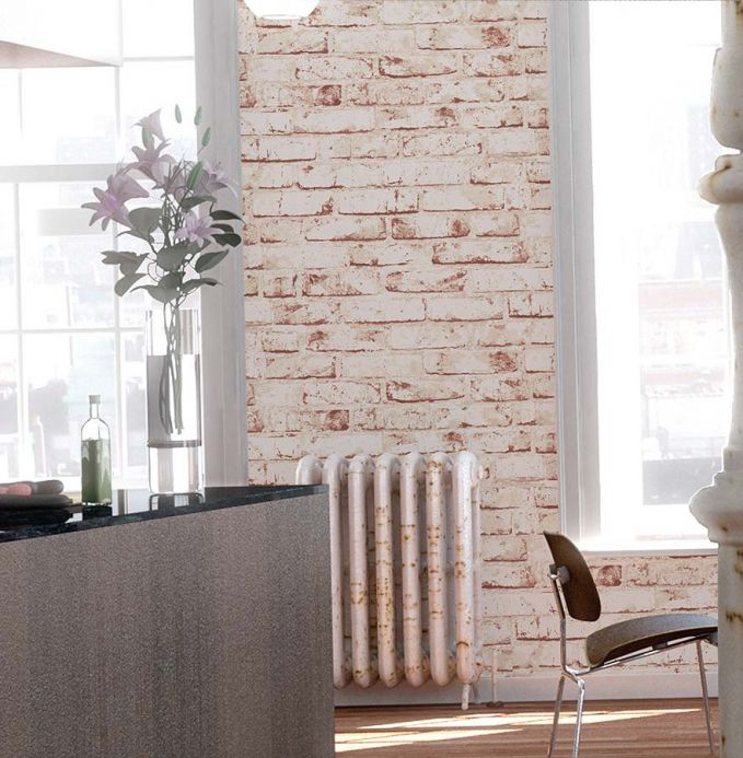 Stone Wallpaper Wallpaper Killa brick red Room View