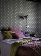 Wallpaper Helene Matt Art Deco fans Matt gold Black grey