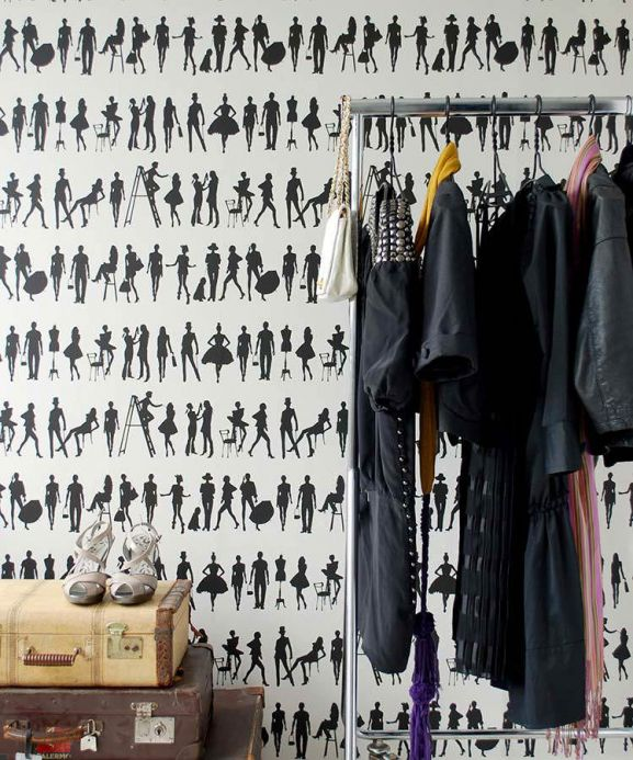 Archiv Wallpaper Fashion black Room View