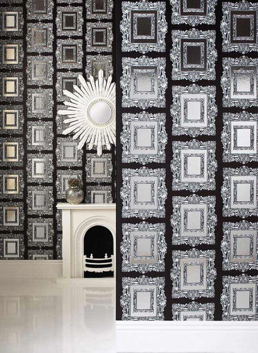 Archiv Wallpaper Mirror silver lustre Room View