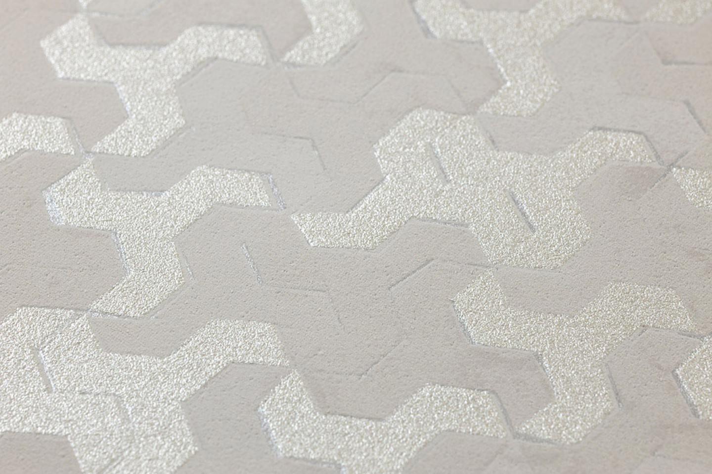 tapete skylar hellbeigegrau weisssilber tapeten der 70er. Black Bedroom Furniture Sets. Home Design Ideas
