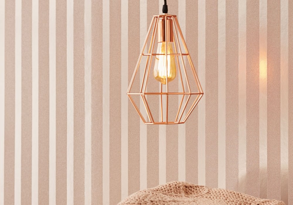 Wallpaper Artemis Shimmering Stripes Pale brown lustre Pale brown glitter