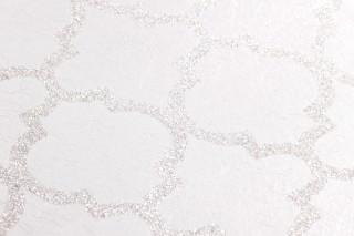 Papel pintado Ginevra Brillante Damasco oriental Blanco ostra