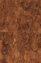 Wallpaper Cork on Roll 03 Shimmering pattern Matt base surface Solid colour Brown tones Light orange metallic