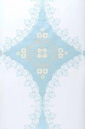 Carta da parati Selket blu chiaro lucido