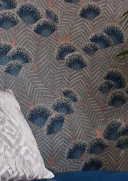 Papel de parede Tambika azul esverdeado
