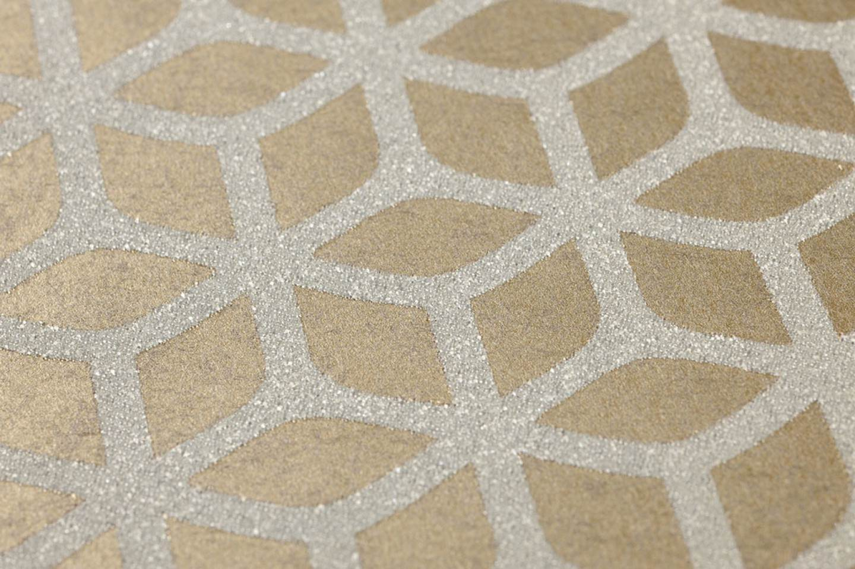 Papier peint zelor dor brillant argent blanc chatoyant papier peint des - Papier peint annee 70 ...