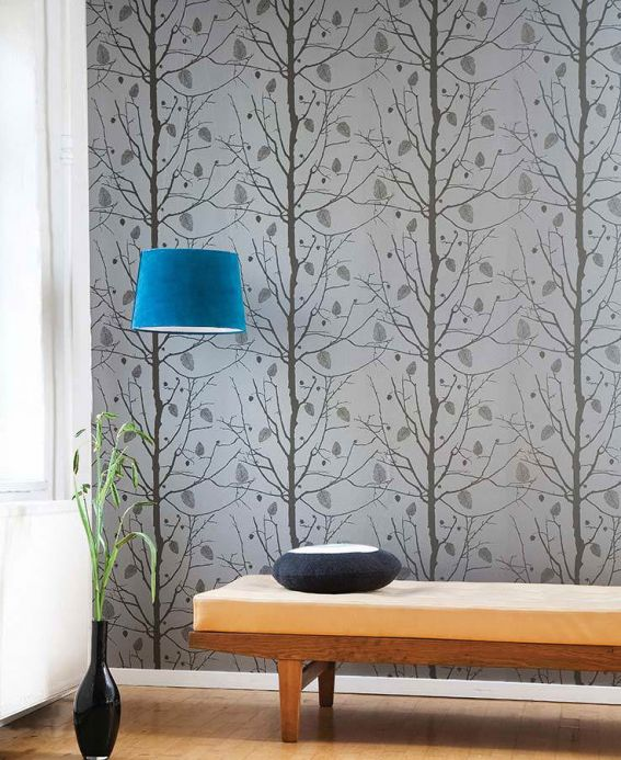 Archiv Wallpaper Family Tree brown grey Room View