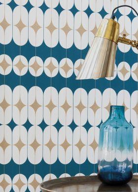 Papel de parede Yukina azul oceano Ver quarto