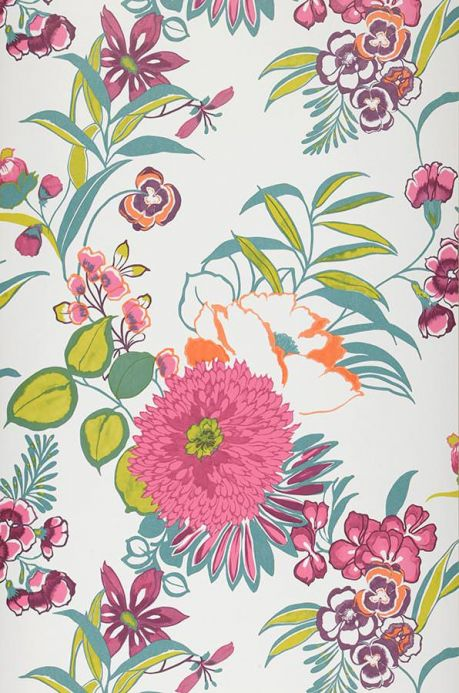 Archiv Wallpaper Petronella fuchsia Roll Width