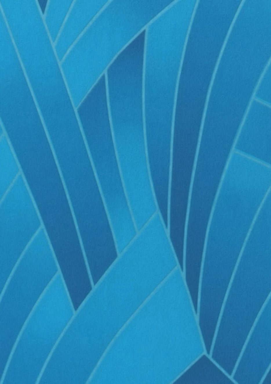 papier peint nocuma bleu fonc bleu d eau papier peint des ann es 70. Black Bedroom Furniture Sets. Home Design Ideas