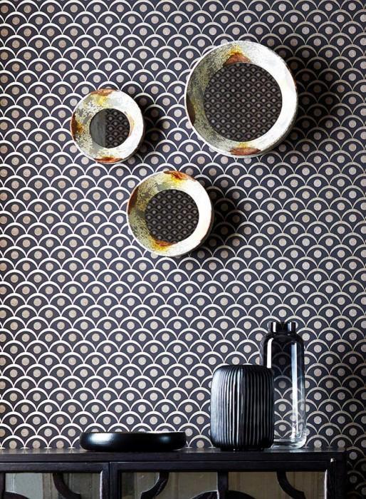 merkur gris noir beige nacr papier peint billes de verre mati res papier peint des. Black Bedroom Furniture Sets. Home Design Ideas