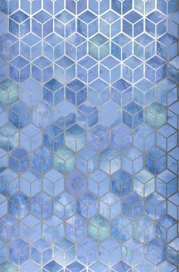 Papel pintado Casimir azul pastel Ancho rollo