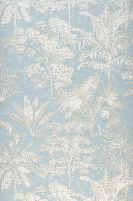 Botanical Wallpaper Wallpaper Alenia light blue Roll Width