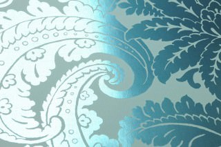 Wallpaper Nemesis Metallic effect Baroque damask Pastel turquoise Emerald green lustre